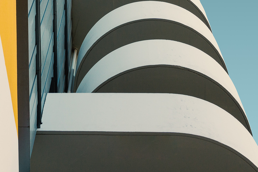 close up of modern architecture